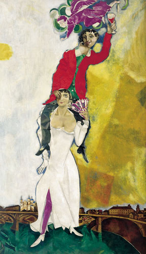 Chagall Double Portrait with Wine