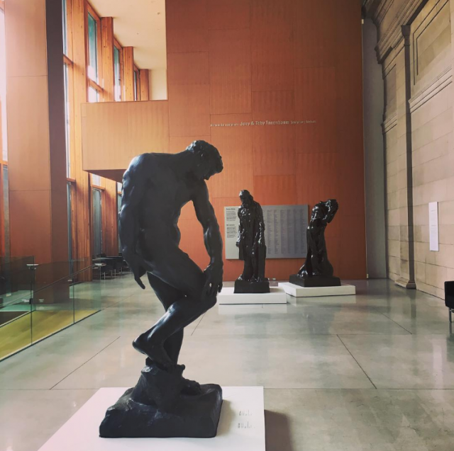 Three sculptures by Rodin in the AGO sculpture atrium