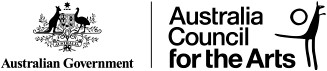 a logo featuring the crest of the Australian government and the Australia council for the Arts