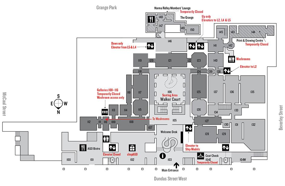 Gallery Map Art Gallery Of Ontario