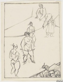 George Grosz, Acrobats on a Tightrope @ 288px