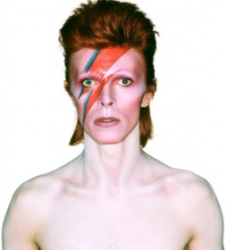 Album cover shoot for Aladdin Sane, 1973.