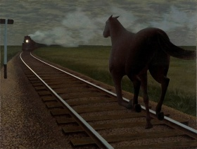 Alex Colville, Horse and Train