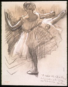 Edgar Degas, Danseuse Vue de Dos. Grand Battement à la Seconde, c. 1885–1890