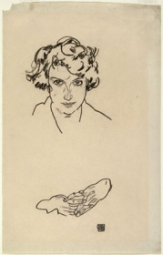 Egon Schiele, Portrait of a Girl 1917