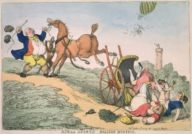 Thomas Rowlandson, Rural Sports, Balloon Hunting @ 594