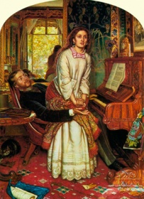 William Holman Hunt (British, 1827-1910), The Awakening Conscience, 1853-54