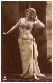 "French, carte postale. ""Woman standing in exotic costume"""