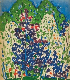 David Milne Cobalt Trees, c. 1913
