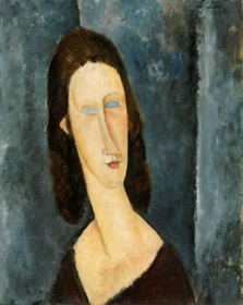 Amedeo Modigliani 1884-1920  Blue Eyes (Portrait of Madame Jeanne Hébuterne), 1917