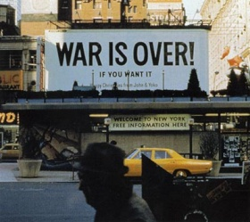Ono and Lennon WAR IS OVER!, 1969