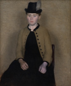Hammershoi Portrait of Ida Ilsted
