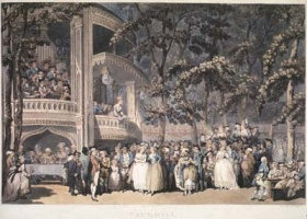 Pollard, Robert; Jukes, Francis (after Thomas Rowlandson, British, 1756-1827) Vaux-hall, 1785