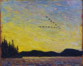 Tom Thomson, Round Lake, Mud Bay, fall 1915