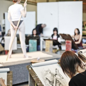 Youth life drawing class