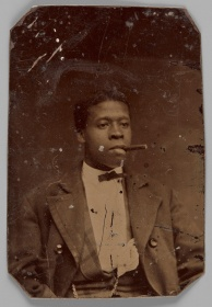 Unidentified man with a cigar