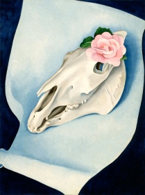 Georgia O'Keeffe. Horse's Skull and Pink Rose, 1931