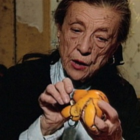 Film still from Louise Bourgeois: The Spider, the Mistress and the Tangerine