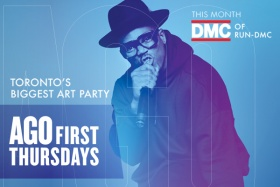 DMC of RUN-DMC, the headlining act for the AGO's September First Thursday, Toronto's Biggest Art Party.