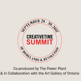 Creative TIme Summit logo with dates of event and partners