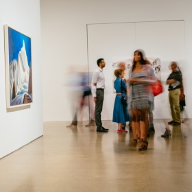 visitors in the gallery