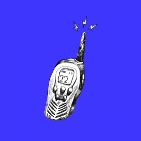 a drawing of a walkie-talkie