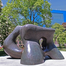 Henry Moore, Large Two Forms, installation view