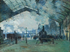 monet normandy train
