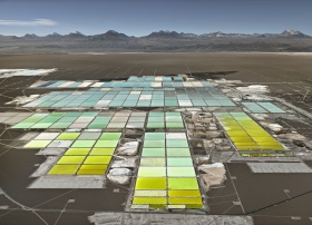 landscape image of lithium mines in chile by artist Edward Burtynsky