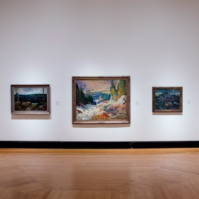 artworks from the AGO collection in Fudger Rotunda gallery