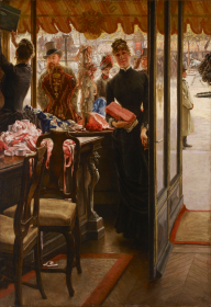 La Demoiselle de magasin by James Tissot.