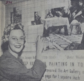 Mrs. J.L. Goad next to announcement for Tintoretto purchase.