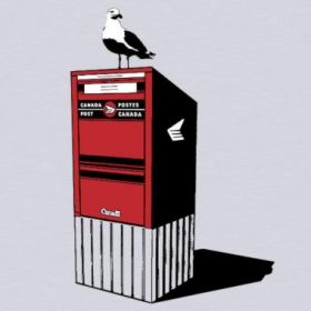 Tresnormale T Shirt  - Seagull on top of Canada Post Mailbox