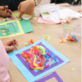 Photo of Yarn Painting Activity