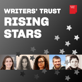 composite image of Writers' Trust five rising star authors arrange horizontally.