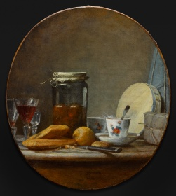 painting by Jean-Siméon Chardin, Jar of Apricots