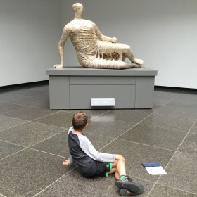 Scupture by Henry Moore, Draped Reclining Woman