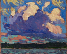 Tom Thomson. Evening Cloud, Fall 1915. Oil on composite wood-pulp board, Overall: 21.7 x 26.8 cm. The Thomson Collection at the Art Gallery of Ontario. © Art Gallery of Ontario 2003/1716