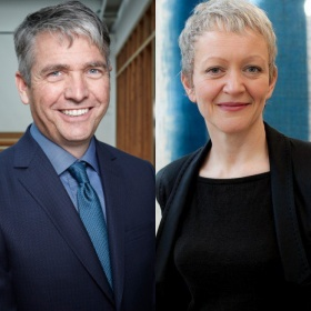 Headshots of speakers Stephan Jost and Maria Balshaw
