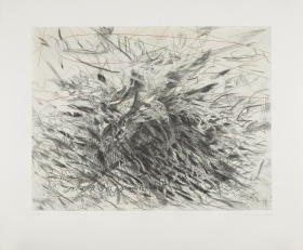 Julie Mehretu, Algorithms, Apparitions and Translations, etching with aquatint,