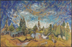 Emily Carr, Stumps and Sky, c. 1934