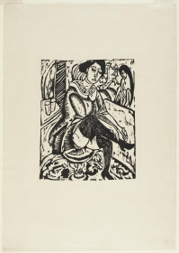 Image of Woman Tying her Shoe by Kirchner