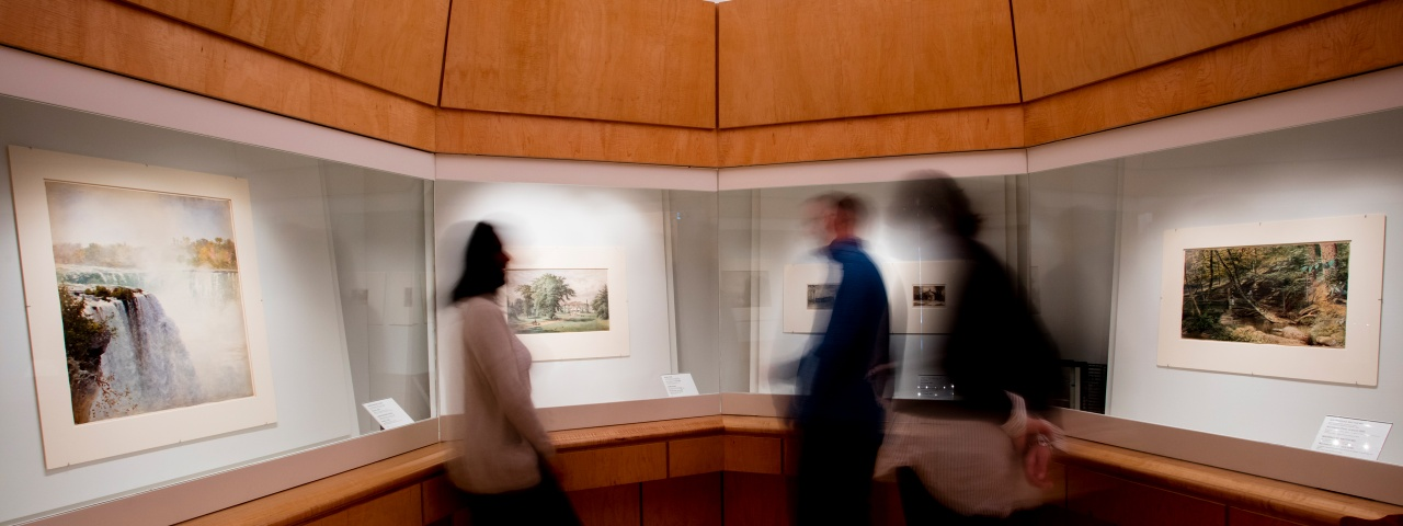 people in the prints and drawings gallery