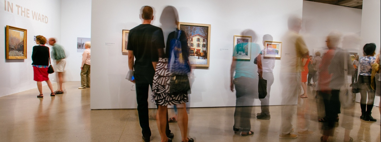 People viewing art