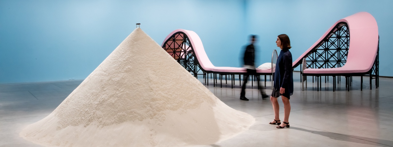 an installation view from if sand were stone