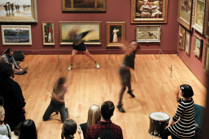 dancers performing in the gallery