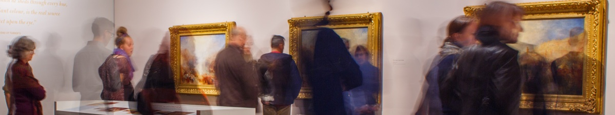 People looking at art in the gallery