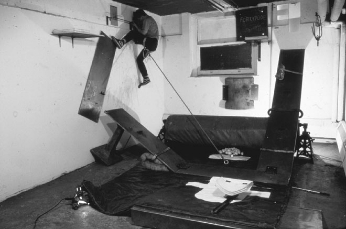Matthew Barney, DRAWING RESTRAINT 2, 1988, Documentation Still