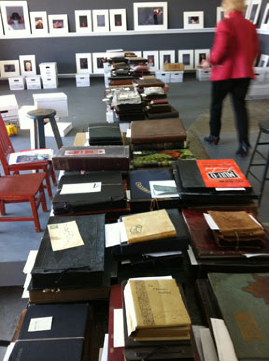 Max Dean's collection of family photo albums, October 6, 2011.