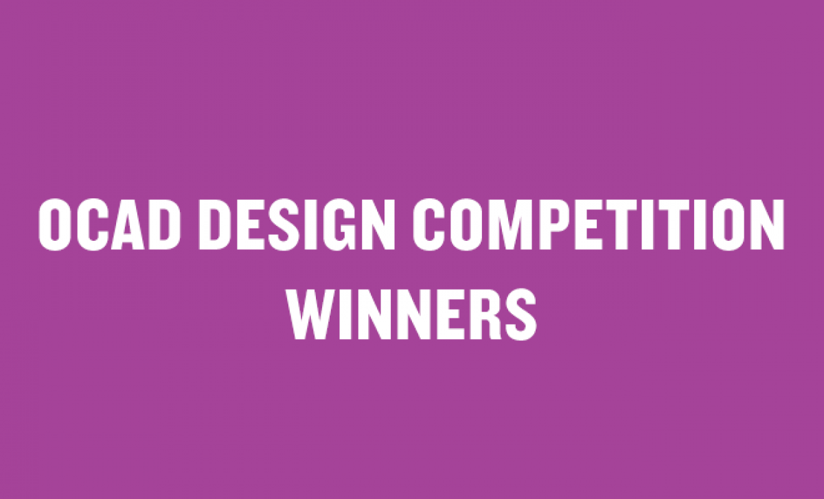 OCAD Design Competition Winners